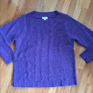 Sweaters - Great Northwest Clothing Co. Purple Marled Sweater